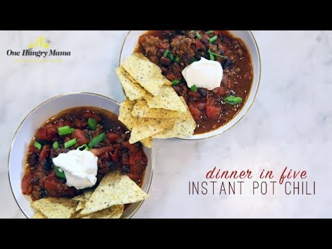 Dinner in Five: Instant Pot Chili recipe | One Hungry Mama