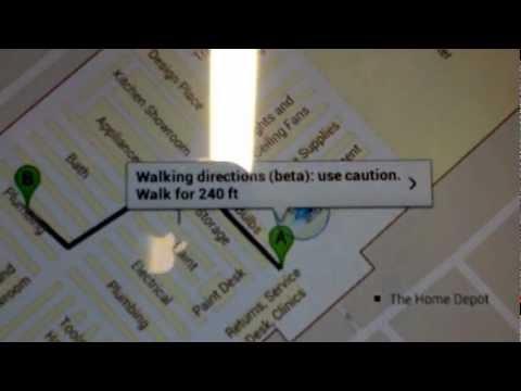 Google Indoor Maps inside Home Depot