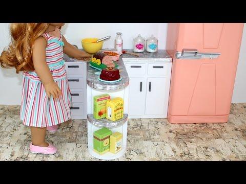 DIY American Girl Doll Kitchen Counter
