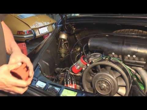 Porsche Valve Adjusting, Oil Chg, New Plugs Cap & Rotor - DIY German Aircooled Garage #5