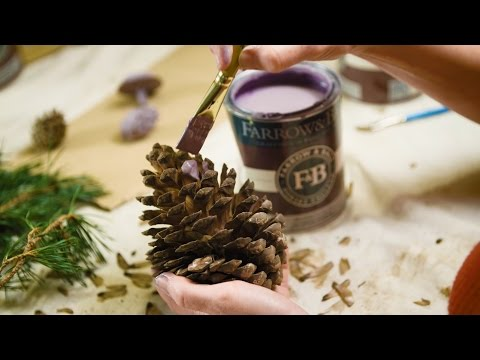 Hand-painted Festive Fir Cones