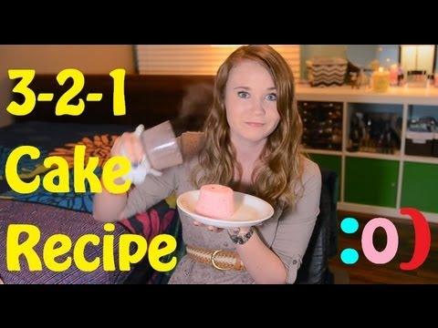 1 Minute Cake Recipe!! (3-2-1)