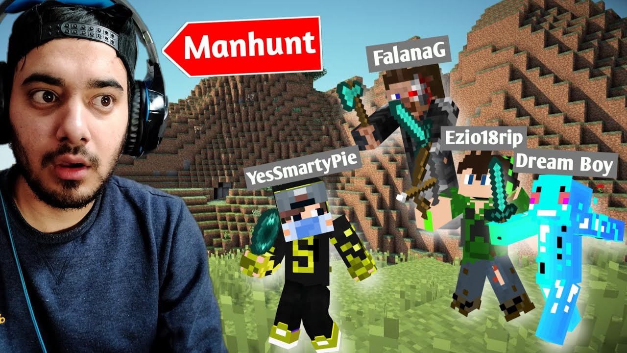 1 V 3 Minecraft Speedrunner VS Hunter Challenge