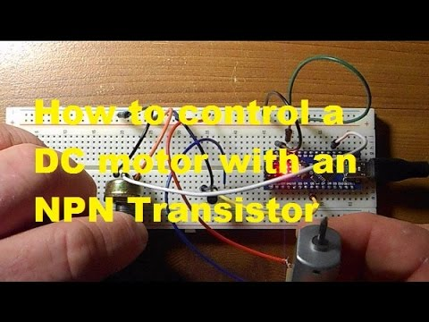How to use a transistor to control motor speed
