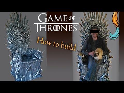 """How to build the Game of Thrones """"Iron Throne"""" (Human-size)/ Eiserner Thron bauen (Menschengröße)"""