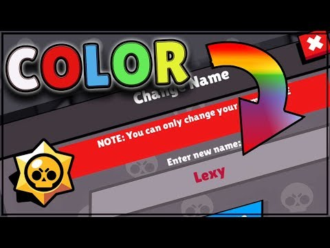 Colorful names in Brawl Stars.  How to change your name color.