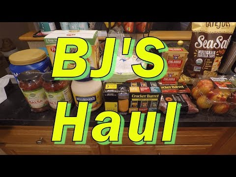 BJ'S Grocery Haul 3 31 2018
