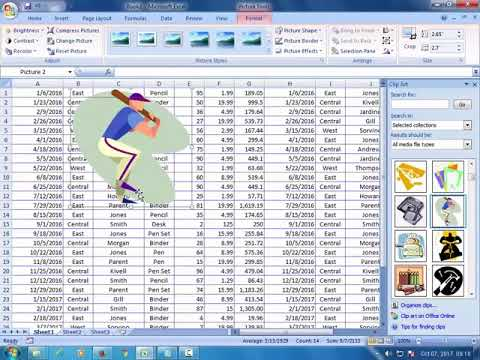 How to Insert a clip art in Excel