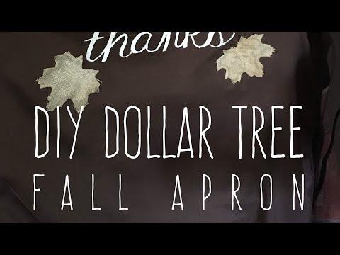 DIY Dollar Tree Fall Apron Customizable 2017