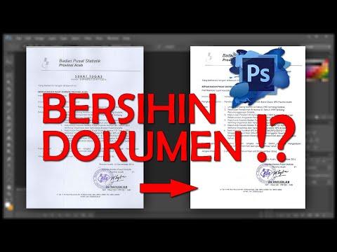 Cleaning Scanned Document? | Simple Photoshop Trick | Badan Pusat Statistik