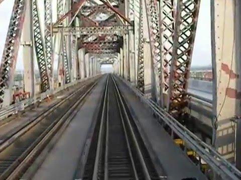 Train Bridge Spanning Mississippi River