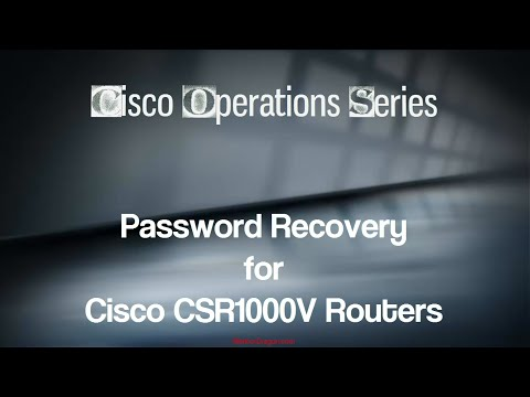 Password Recovery on a Cisco CSR1000V Router
