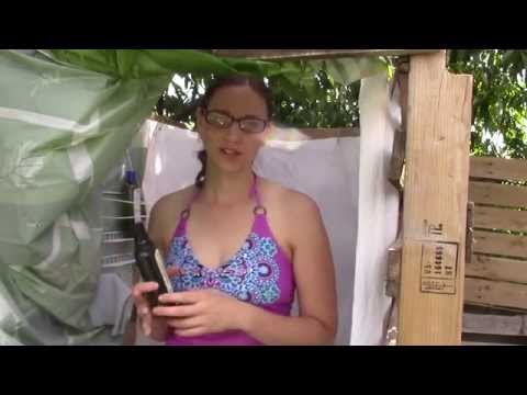 Outdoor Off Grid Solar Shower with Bath Barrel! Super Easy!!