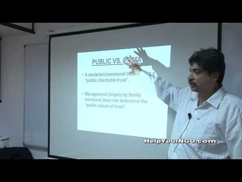Difference between Public Trust and a Private Trust