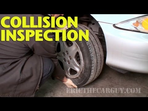 Inspecting Collision Damage (Suspension) -EricTheCarGuy