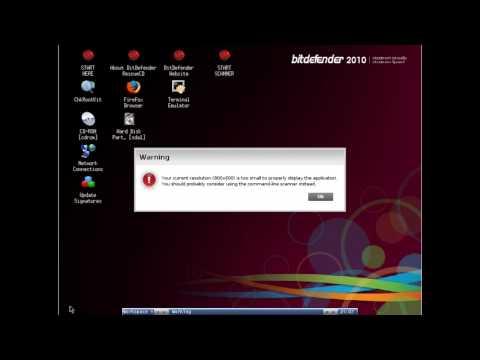 BitDefender Rescue CD päästeplaadi kasutamise õpetus