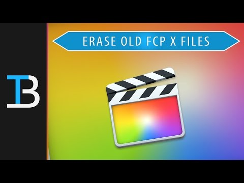 How to Erase Old Final Cut Pro x Files - (Clear Out Old Libraries & Events in Final Cut)