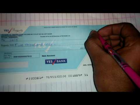 How to fill up self cheque(cheque bharne ka aasan tarika)in hindi