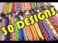 30 Paracord Designs in 2 Minutes - All Paracord Survival Bracelets - BoredParacord