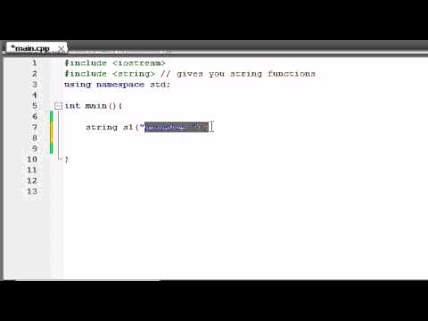 Buckys C++ Programming Tutorials - 71 - string Class and string Functions