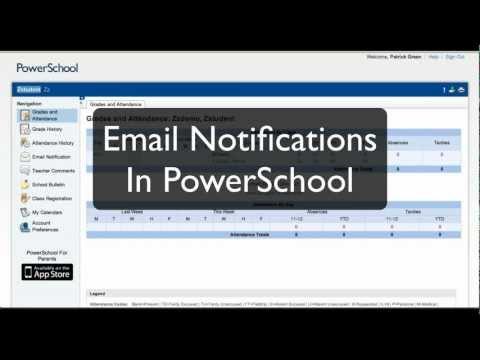 Email Notification in PowerSchool