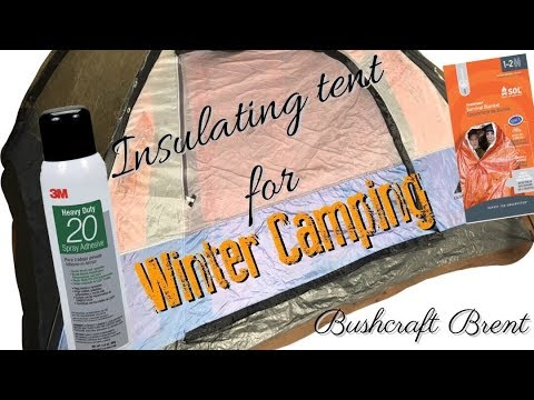 Insulating Tent For Winter Camping | Bushcraft DIY's