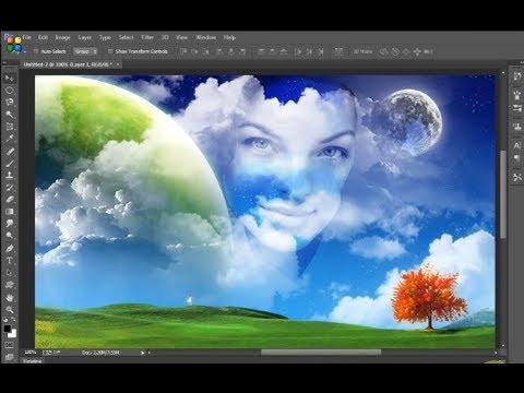 Photoshop CC - Merge face in background using photoshop