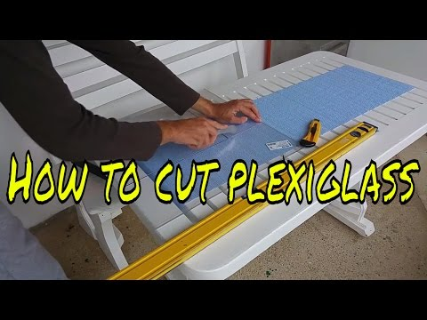 How to cut plexiglass with exacto knife