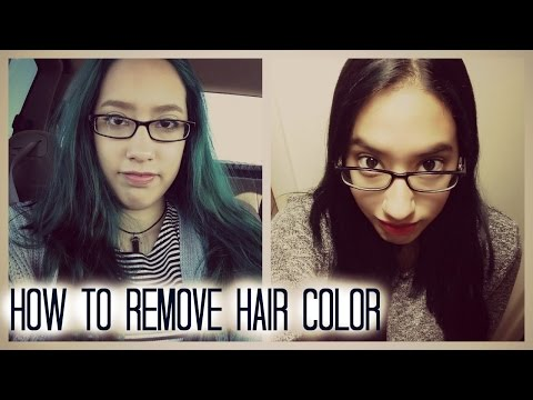 How To Remove Green Hair (Going back to black) ft. One'n only Color Fix