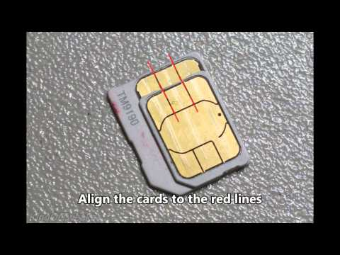 How to cut a micro SIM to nano