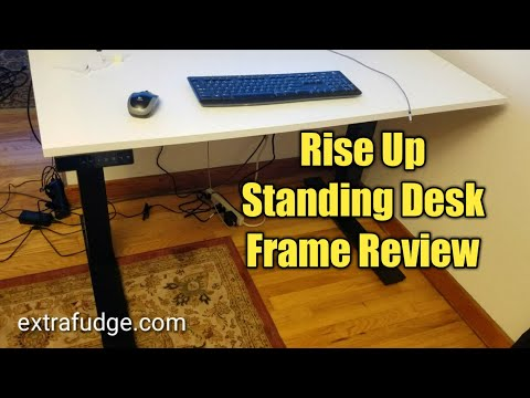 Review and Demo of the RISE UP Electric Height Adjustable Standing Desk Frame with Memory Control