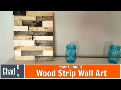 DIY Wood Strip Wall Art