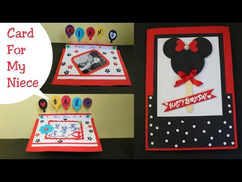 DIY Birthday card for Kids|Making Disney card|Mickey Mouse Card|Birthday popup card making