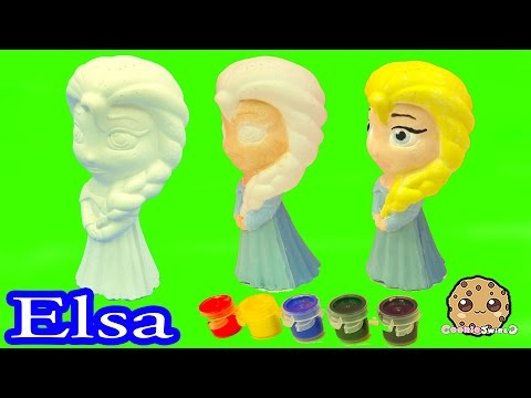 Paint Your Own Disney Frozen Queen Elsa Painting Craft Kit Set - Cookie Swirl C Video