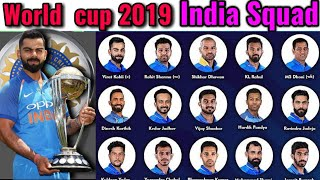 ICC World cup 2019 | India New Squad for world cup 2019 | Indian World Cup Team