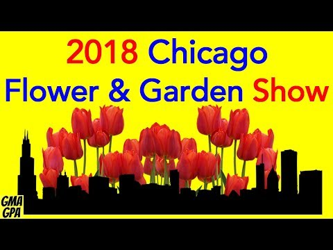 Chicago Flower & Garden Show 2018 - Navy Pier - Gardening, Landscaping, Butterflies, Cockroach Races