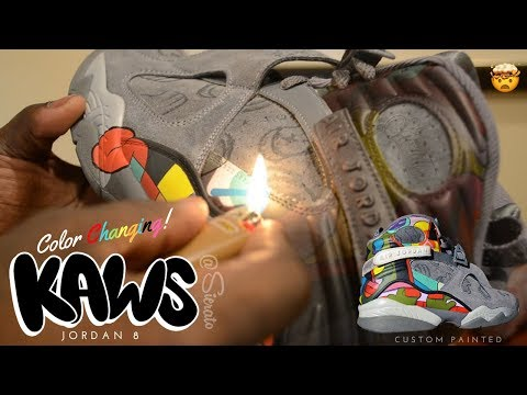 Full Custom | COLOR CHANGING Kaws Jordan 8 by Sierato