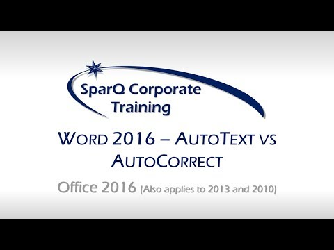 Word 2016 - AutoText vs AutoCorrect PLUS Backing Up Your Entries!