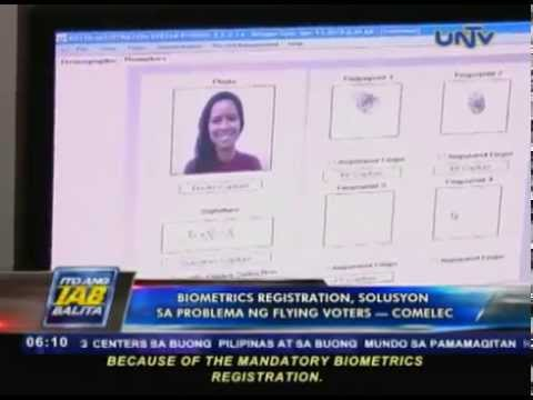 Biometrics registration, solusyon sa problema ng flying voters — COMELEC