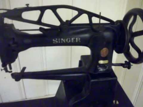 1885 Singer 29-3 Leather Sewing Machine & Treadle For Sale!