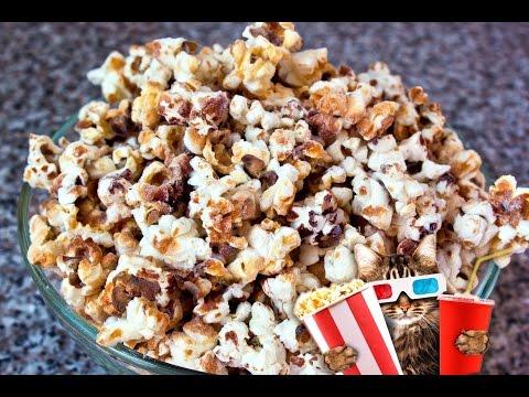 Сладкий попкорн с медом. Sweet popcorn with honey