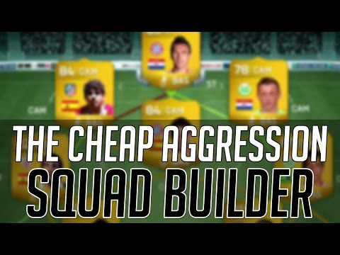 THE BEST CHEAP HIGH AGGRESSION HYBRID SQUAD | FIFA 14 Ultimate Team Squad Builder (FUT 14)