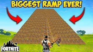 BIGGEST RAMP EVER MADE! - Fortnite Funny Fails and WTF Moments! #28 (Daily Fortnite Funny Moments)