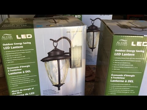 How to install outdoor light fixture - Altair LED Outdoor Energy Saving Lantern - Costco light