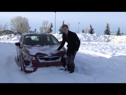 Subaru Impreza in All-Season Tires Plows Through the Snow!