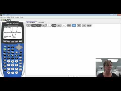 Finding x-intercepts on the Graphing Calculator