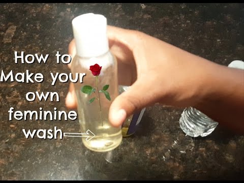 Easy Quick DIY | How to Make Your Own Homemade Feminine Wash | Save Money