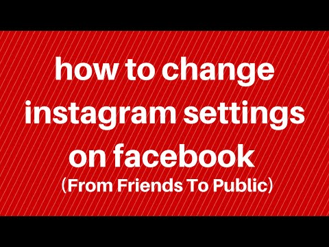 how to change instagram settings on facebook
