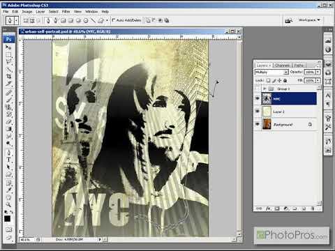 Photoshop - Urban Collage Self Portrait