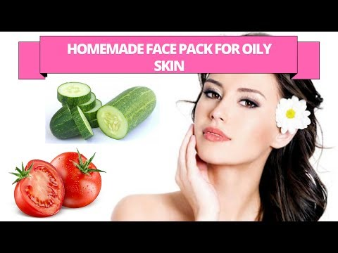 Tomato for oily skin - Home remedy for oily skin with tomato and cucumber